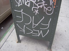 neckface (ckygill) Tags: nyc graffiti post box neckface