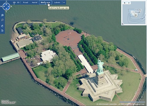 Bird's Eye View Of Statue Of Liberty