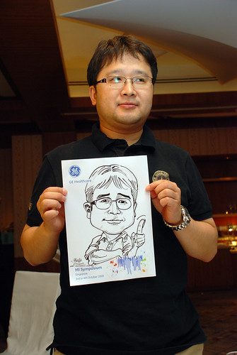 Caricature live sketching for GE Healthcare MI Symposium 14