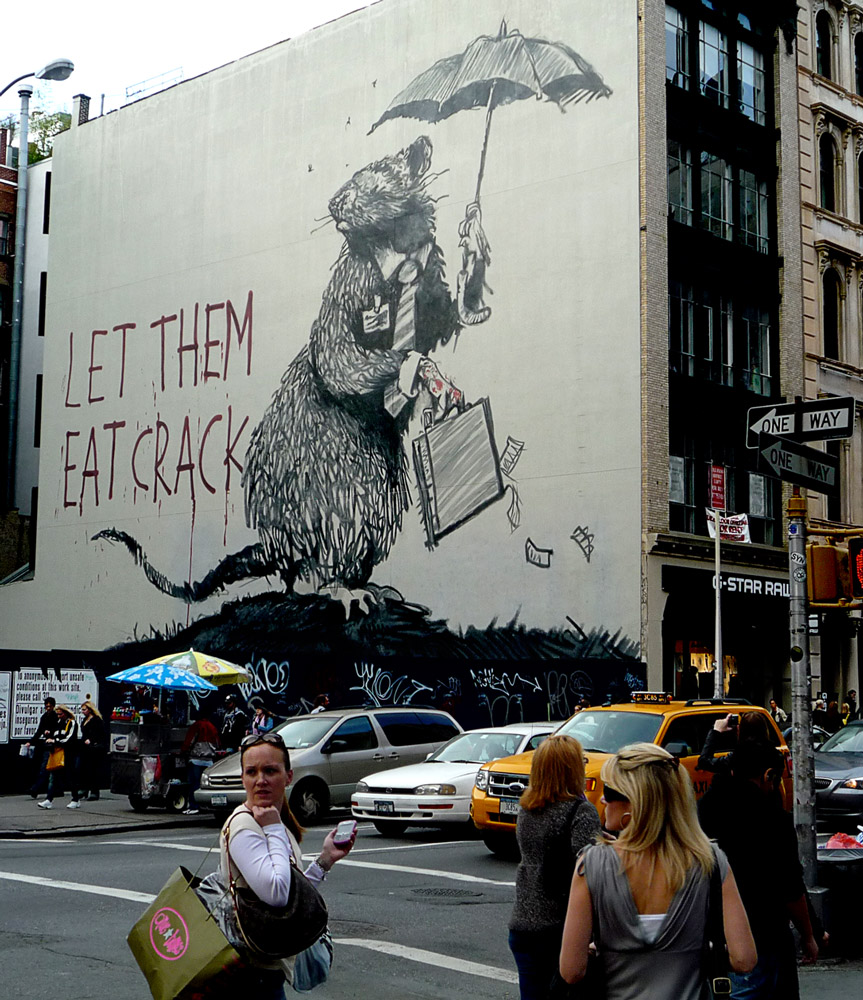 Banksy Rat - Let Them Eat Crack