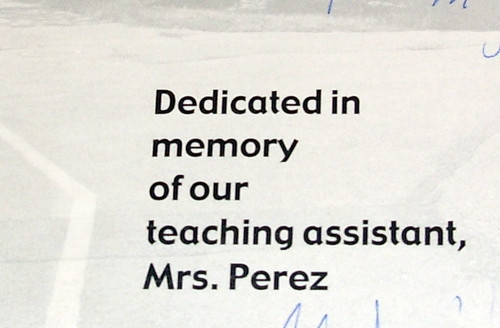 2007 elementary school year book dedication