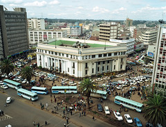 National Archives, Nairobi (longboy74) Tags: africa color colour buses landscape commerce nairobi taxis palmtrees colonialarchitecture pedestrians publictransport aerialphotography nationalarchives eastafrica colonialism naironationalarchives centralnairobi