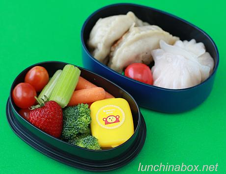 Leftover dim sum bento lunches