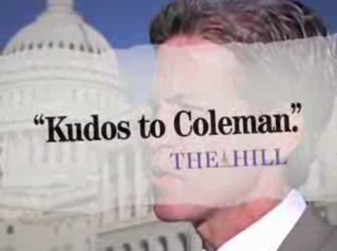 """Norm Coleman's """"Kudos"""" Ad"""