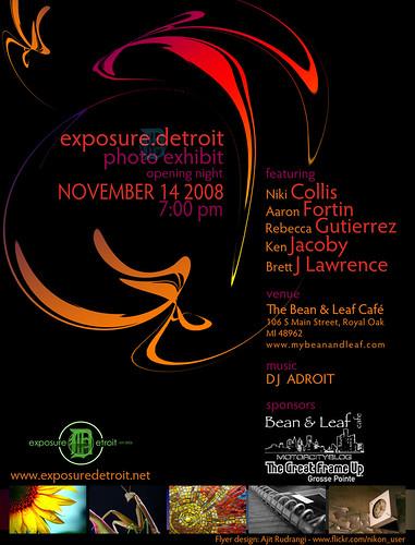 Exposure.Detroit November 14th Exhibit!!