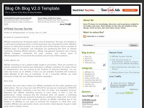 Blog Oh Blog template