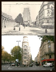 Boulevard Exelmans, rue Chanez, rue Molitor 1905-2008 - Paris XVI (RUAMPS ) Tags: france rephotographed then now yesterday today aujourdhui thenandnow rephotograph hier auteuil 16e 16eme 75016 avantapres ruamps