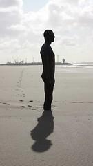 shadows at Crosby Beach (terry.1953) Tags: sculpture male art beach clouds liverpool naked nude shadows nudeart gormley crosby antonygormley anotherplace crosbybeach