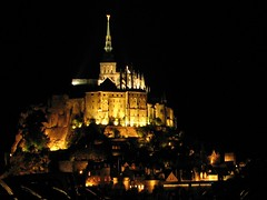 Mont St Michel (biancapreusker) Tags: light france tower church abbey night island montstmichel cubism bigmomma canonpowershots2 beautifulworldchallenges pfonight