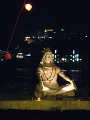 Shiva decorated for Diwali - Rishikesh