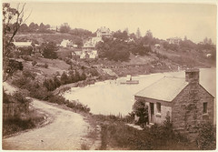 [Rushcutter's Bay, Sydney], ca. 1874 / by unknown photographer (State Library of New South Wales collection) Tags: road water buildings landscape bay sydney australia nsw 19thc rushcuttersbay 1870s albumen statelibraryofnewsouthwales