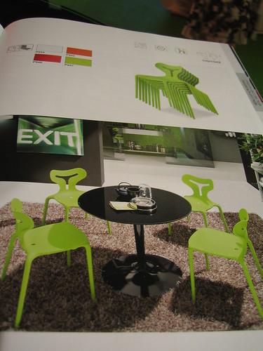 餐桌椅,我們選白*2, 綠*2