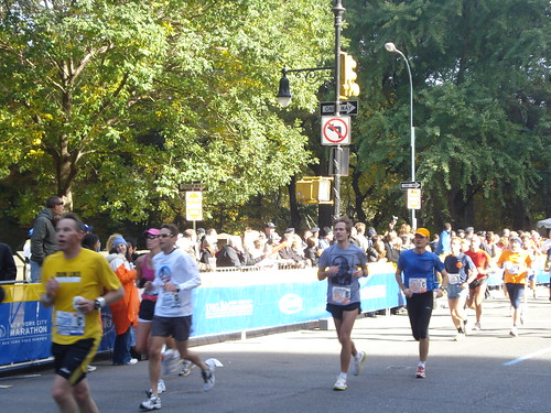 Racers near Columbus Circle
