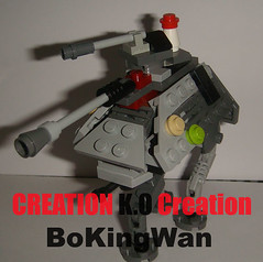 MOC Lego Star Wars Mini Microscale AT-AP Walker (CREATION K.O Creation) Tags: star lego mini walker wars moc atap microscale