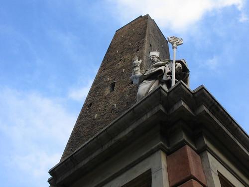 Italia (Italy): Torre Garisenda.Bolonia  (Bologne)