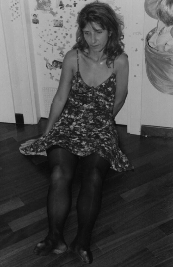 3 (leica_mi) Tags: girls portrait blackandwhite woman house feet stockings  girl beauty fashion