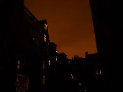 copenhagen by night (anjamation) Tags: light night silhouette 2008 november lookingup copenhagen windows sonydscs500 nightwindows mby orange fall unaltered kbenhavn backyard