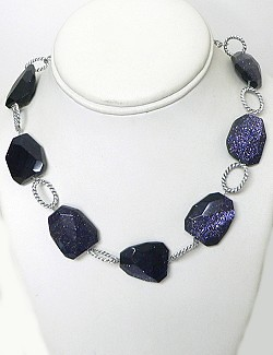 Cobalt Blue Goldstone Jewelry