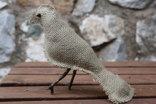 burlap bird