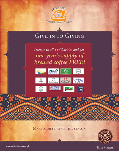 Give in to Giving : The Coffee Bean and Tea Leaf