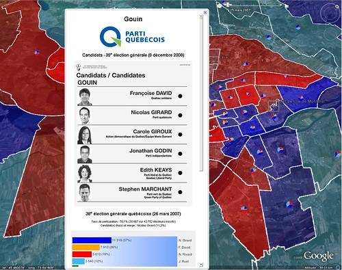 Google Earth - Québec 2008 - Circonscription de Gouin (Montréal)