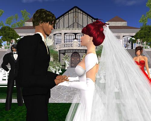 Sam & Bella's Wedding - Holding hands
