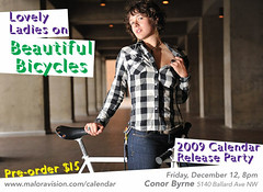 Lovely Ladies on Beautiful Bicycles - Calendar Ad - McKenzie (Sweendo) Tags: seattle ladies uw beautiful nikon calendar bikes bicycles babes lovely 2009 strobist d700