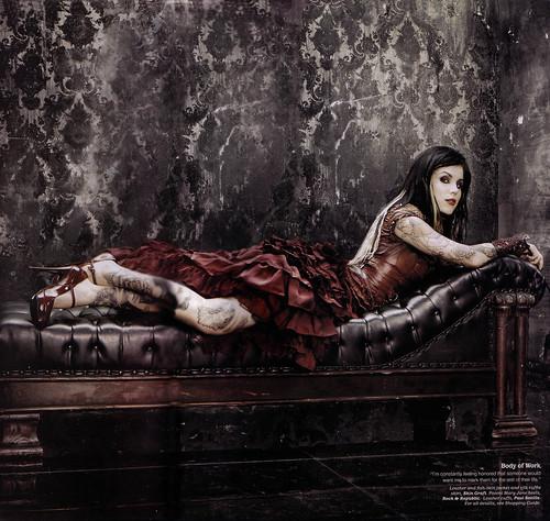 Kat Von D shot in skingraft for Latina magazine NOV 08 issueHOT