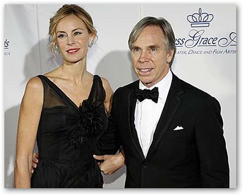 Dee Ocleppo & Tommy Hilfiger at Black Tie Event
