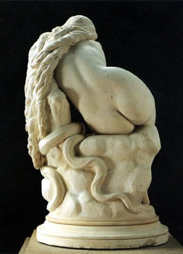 Eugène Delaplanche (French, 1831-1892) Eve After the Fall (1869) Marble. Musée dOrsay, Paris. (From Behind)