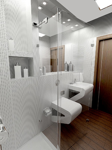 Great design Bathroom for a private apartament, Cracow, by InsideLab