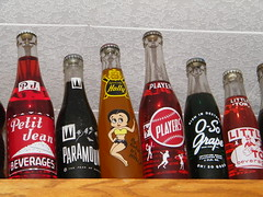 Old Soda Bottles 7 (rdm725) Tags: old red white glass yellow cola drink beverage coke pop holly clear drinks pj soda players beverages grape popbottles cokebottles paramount petitjean sodabottles littletom osogrape stormy725