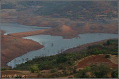 Temghar Dam backwaters view from road to Lavasa city.