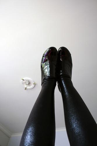 shoe legging detail