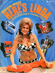 Linda Vaughn,Queen of Motor Racing,on the cover 1971 (torinodave72) Tags: girl golden linda nascar firebird miss vaughn pure shifter hurst nhra