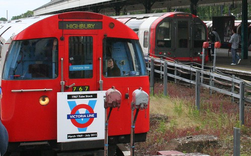 Victoria Line and Central Line trains
