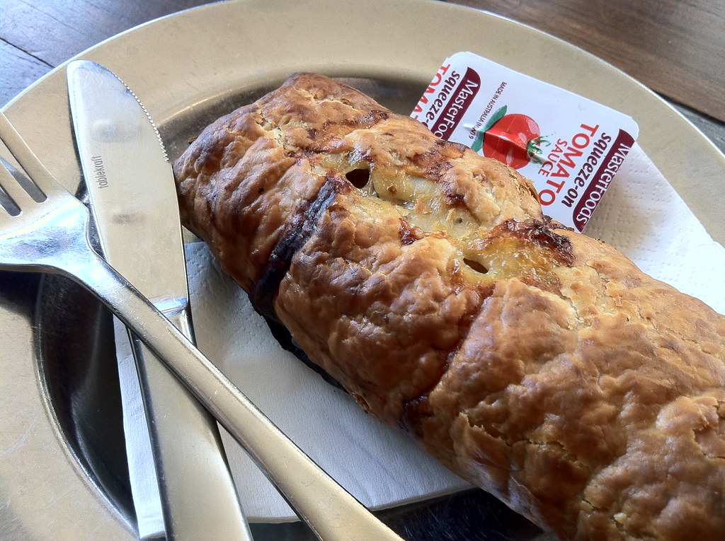 Pork and fennel sausage roll from Bourke Street Bakery