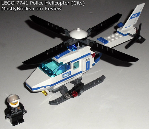 review lego city 7741 police helicopter mostly bricks