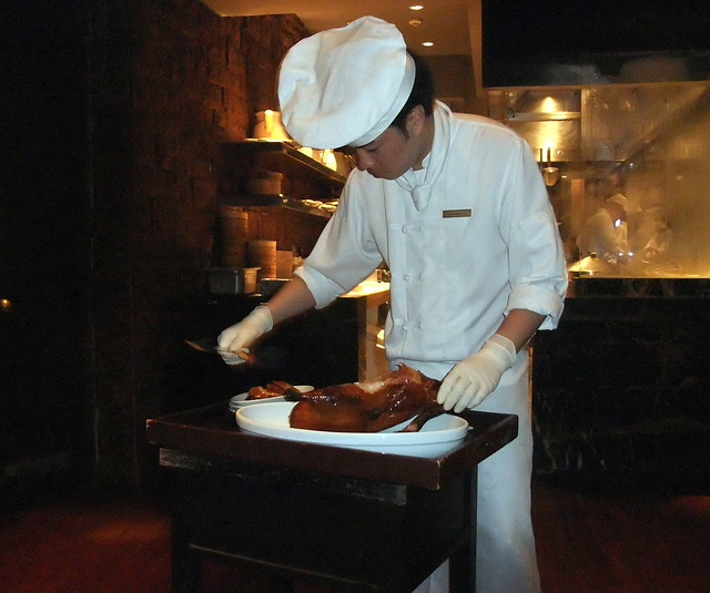 Chef Carving the Peking Duck