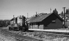 CPR working in Princeton, BC. (R R Horne) Tags: station bc princeton depot cp railways cpr gn gnr