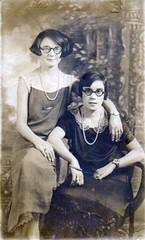 Alma and Rita (kevin63) Tags: 1920s portrait glasses women antique alma rita harrypotter wristwatch spencer sigmundfreud lightner haroldloyd gasolinealley bobbedhair
