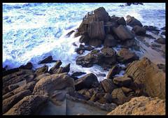 Not a nice place to take a dive :) (Paulo Pocas) Tags: blue sea beach rock stone wave praiaformosa superbmasterpiece