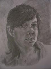 Self Portrait Series #1 - 9x12in, Graphite
