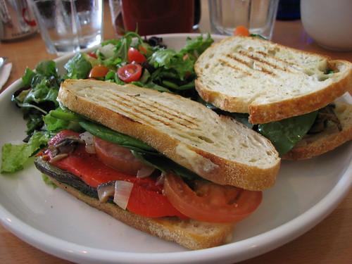 Grilled Vegetable Panini, Cafe Kaila