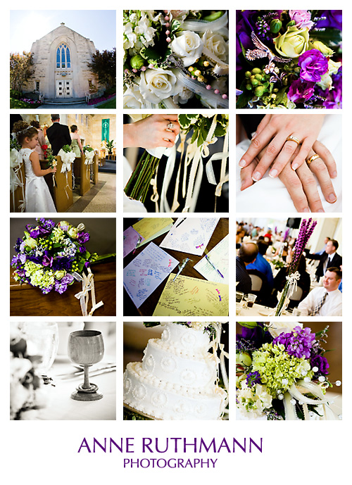 Purple Green Real Wedding Detail Inspiration Board