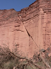 fault line at Talampaya Canyon, Argentina - by World Resources