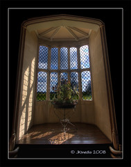 The Oriel Window, South Gallery, Lacock Abbey. The First Photograph (JKmedia) Tags: flowers blue light shadow sky green window canon eos stand display nt chapeau laycock foxtalbot nationaltrust hdr lattice springtime talbot firstphotograph lacockabbey oriel 40d southgallery diamondclassphotographer flickrdiamond 15challengeswinner goldstaraward fabcap jkmedia