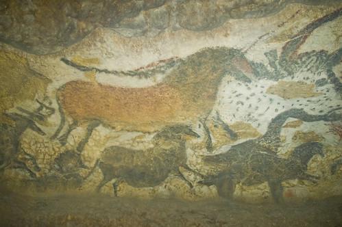 Cuevas de pinturas rupestre en el valle de Dordogne