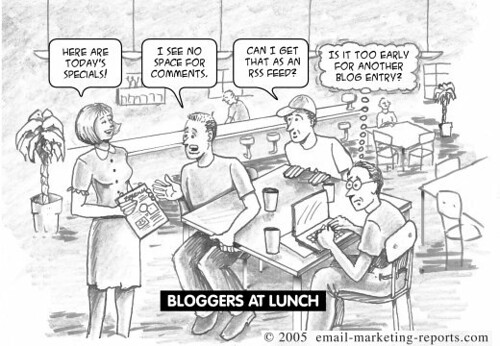 bloggers at lunch