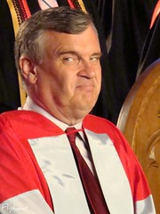 The Lieutenant Governor of Ontario, The Honourable David C. Onley,  O.Ont. (flipkeat) Tags: portrait ontario canada eyes funny university faces famous governor convocation mississauga canad